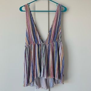 Urban Outfitters Striped Rainbow Tank